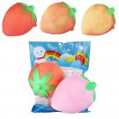 Temperature Sensitive Squishy Strawberry Change Color 8cm Fruit Slow Rising Toy Collection