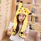 30CM Yellow Cartoon Ear Hat Can Move Airbag Cap Stuffed Plush Gift Record Video Dance Toy Neckerchie