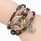 Gold Eiffel Tower Pattern Watch National Style Bracelet Watch Women Quartz Watch