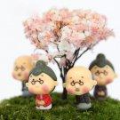 4Pcs/1Set Old Granny Fairy Garden Gnome Animals Moss Terrarium Home Desktop Decorations
