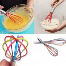 Stainless Steel Handle Whisk Silicone Kitchen Mixer Egg Beater Household Tool