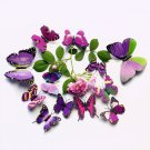 12PCS 3D Butterfly Wall Sticker Multi Color PVC Wall Decors For Living Room Wall Kids Bedroom