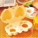 Creative Kitchen Microwave Steamer Flower + Love Egg Steamer Egg Tool