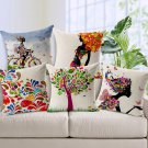 Charming Pattern Cotton Linen Pillow Case