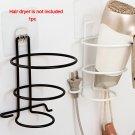 Hair Dryer Iron Rack Holder Organizer Bathroom Wall Mounted Storage Stand Hanger