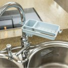 1Pc Adjust Faucet Leachate Shelf Bathroom Soap Rag Small Object Storage Sort Out Rack