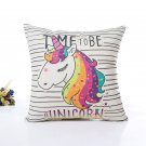 Unicorn Pillow Case Polyester Home Throw Pillows Soft Decorative Cushion Cover For Sofa Chair Pillow