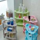 Bathroom Three Storey Triangular Shelf Kitchen Drain Plastic Landing Rack