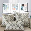 SOFO Chenille Fabric Sofa Cushion Cover Plaid Throw Pillow Cover Decorative Pillow Case for Car Home