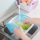 Kitchen Basket Folding Fruit Vegetable Cleaning Hand-held Dish Drain Basket
