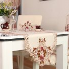 Garden Embroidered Runner Dining Cover Wedding Decoration Tv Cabinet Pad Tablecloth