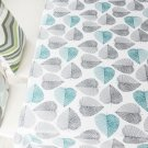 Modern Printed Leaves Rectangle Cover Wedding Tablecloth