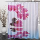 180*200cm Bathroom Shower Curtain Purple Flower Waterproof Bath Curtain