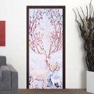 Christmas Deer Wall Sticker Window Door Sticker Art Home Party Decor Decal 45*200CM