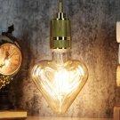 E27 4W Heart Shaped Non-dimmable LED COB Filament Light Bulb Edison Lamp Indoor Home Decor AC220V