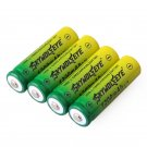 SKYWOLFEYE 4 Pcs 14500 Battery 3.7-4.2V Flashlight Power Camping Hunting Portable Battery