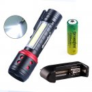Skywolfeye E81 COB+XPE 4 Modes 300Lumens Zoomable Mini Portable LED Flashlight 14500/AA Battery Work