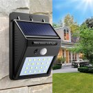 2pcs Solar Power 20 LED PIR Motion Sensor Wall Light Waterproof  Outdoor Path Yard Garden Security L