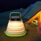 LUSTREON Solar Portable Folding Hanging Camping Lantern Tent Light LED Emergency Lamp Waterproof
