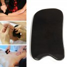 Natural Black Buffalo Horn Scraping Gua Sha Board Acupuncture Cure Manual Massager Tool