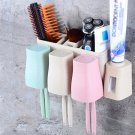 Auto Automatic Toothpaste Dispenser 8 Toothbrush Holder Cup Wall Mount Stand