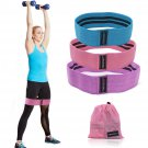 3pcs Booty Resistance Bands Set Loop Hip Booty Legs Exercise Workout Elastic Bag