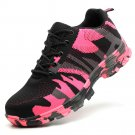 Women Flying Woven Breathable Mesh Anti-Smash Steel Toe Work Safety  Shoes