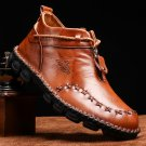 Men Hand Stitching Leather Wear Resistant Large Size Soft Sole Casual Ankle Boots