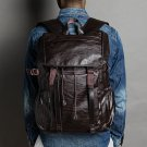 Men Leisure Retro Large Capacity Multifunctional Backpack With USB Charging Port