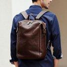 Men Vintage Faux LeatherLeather Backpack Messenger Bag for Business Office Work