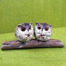 Pair of Owls on a Branch - Garden or Indoor Ornament