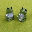 Pair of Porcelain Frog Garden Ornaments