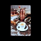 Antique Coffee Grinder and Coffee Cup Reproduction Vintage Metal Sign Wall Decor