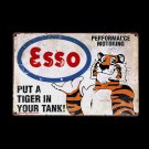 Esso Put a Tiger in Your Tank Reproduction Vintage Metal Sign Advert Wall Decor