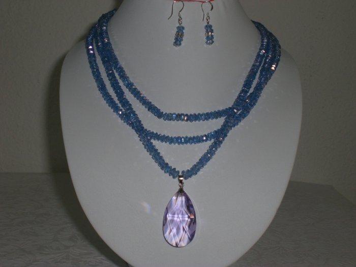 Swarovski Crystal Necklace w/ Earrings