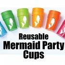 Mermaid Party Cups, Mermaid Party Theme, Mermaid Party Favors, Mermaid Birthday Cups