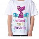 Custom Mermaid Birthday Shirt, Mermaid Birthday Shirt, Mermaid Tail Birthday Shirt, Mermaid Birthday