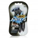 BIC Flex 4 Men's 4 Blade, Disposable Razor, 3-Count