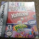 Game of Life/Yahtzee/Payday (Nintendo Game Boy Advance, 2005) NEW SEALED