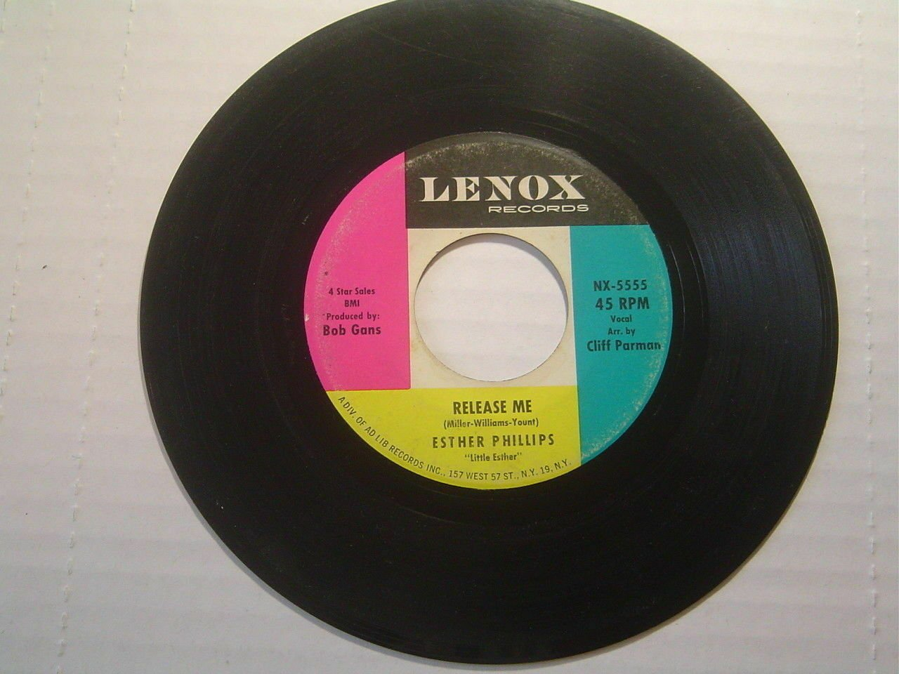 "Esther Phillips: ""Release Me"" / ""Don't Feel Rained On"" - '62 R&B - pl nicely!"
