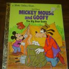 """Mickey and Goofy The Big Bear Scare"" - '78 Disney Little Golden Book - nice!"