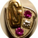 Good Samaritan Hospital Service Pin - Diamond and two red stones - Excellent!