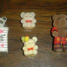 Four Miniature Teddy Bears from the early 1990's in Excellent Condition!