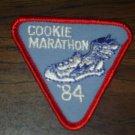 "Vintage 1984 Girl Scout Brownie Patch - ""'84 Cookie Marathon"" - New!"
