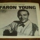 """Picture Sleeve ONLY: Faron Young: """"She Went A Little Bit Farther"""" - '68 - nice!"""