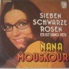 "Picture Sleeve ONLY: Nana Mouskouri: ""Sieben Schwarze Rosen"" - from '75 - nice!"