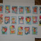 Twenty-four Vintage early 1980's Kid's Valentines in Excellent Condition!