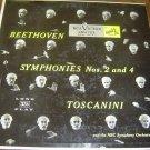 "Arturo Toscanini & NBC Symphony: ""Beethoven Symphonies Nos. 2 and 4"" - EX/plays NM!"