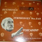 "Toscanini & NBC Symphony: ""Beethoven Symphonies Nos. 5 & 8"" - '52 release/NM vnl"