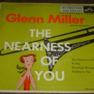 "EP Cover ONLY: Glenn Miller: ""The Nearness Of You"" - from rare '56 EP - nice!"